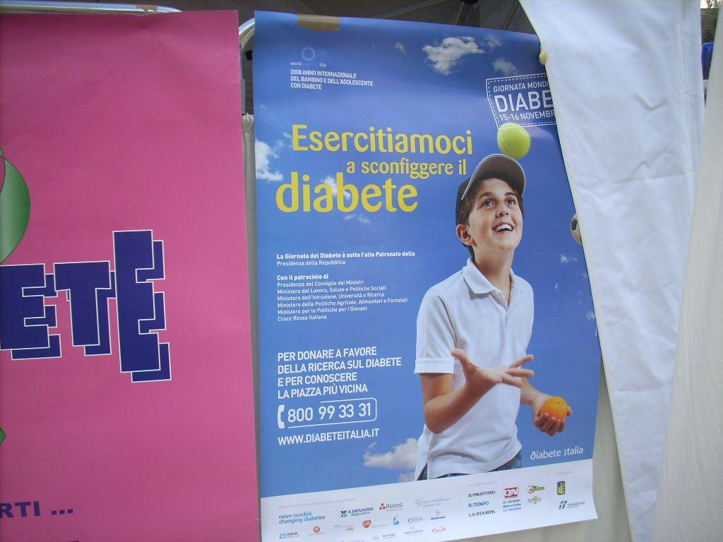 stand di educazione per la prevenzione della malattia diabetica